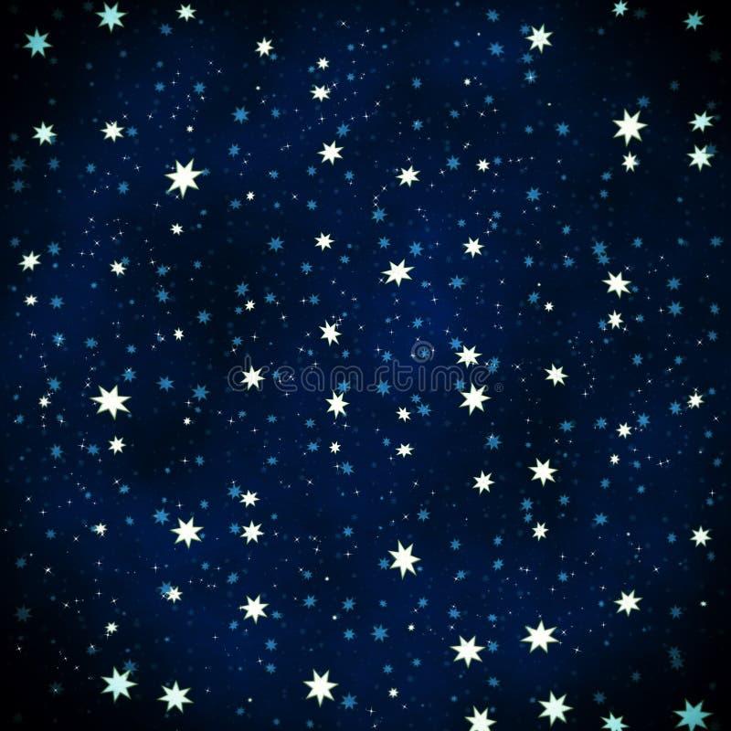 抽象starfield 皇族释放例证