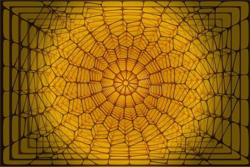 抽象voronoi背景 库存例证