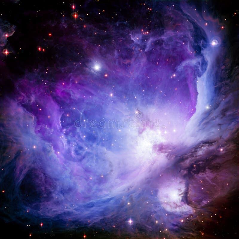担任主角在空间的星云 库存例证