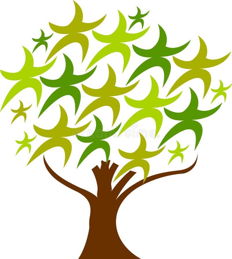 担任主角结构树 库存例证