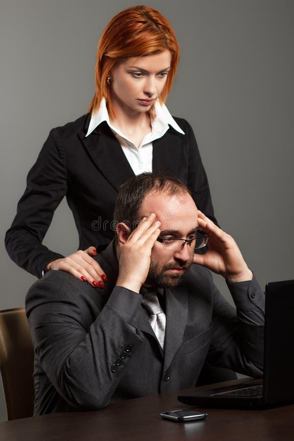 担心的企业小组 免版税库存图片