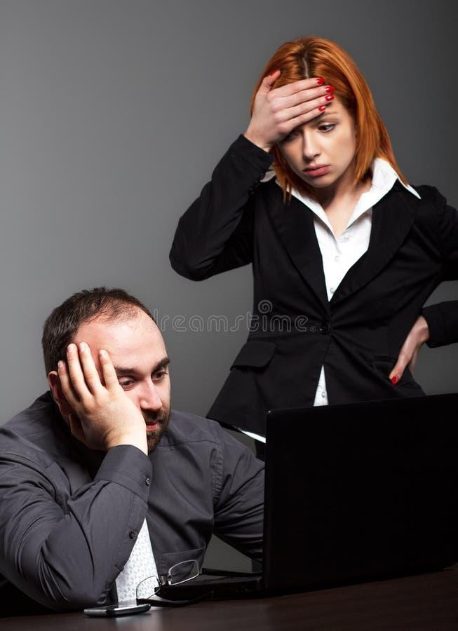 担心的企业小组 库存照片