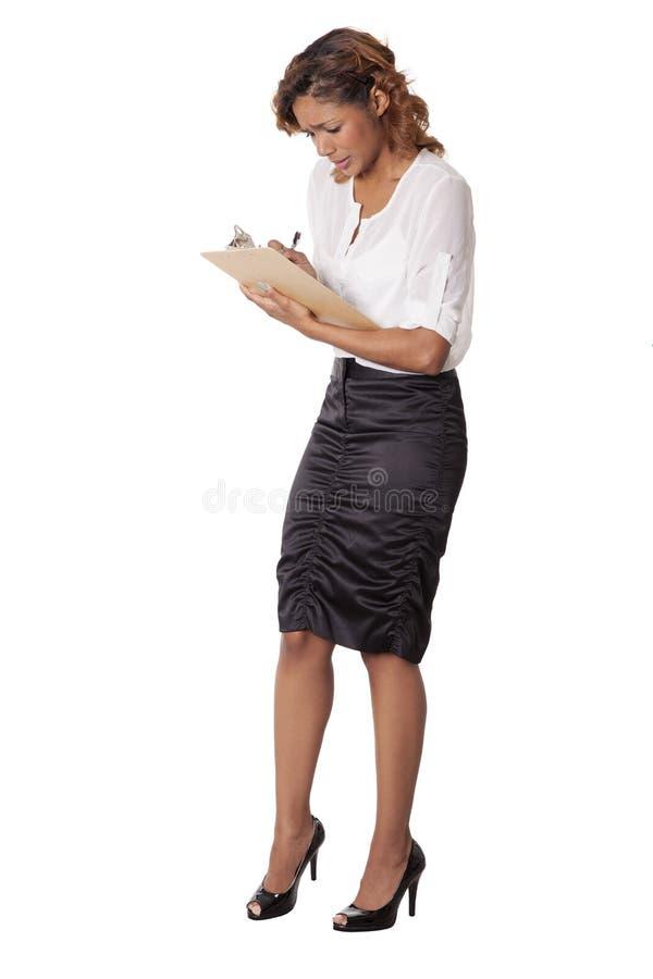 Download 担心的妇女采取关于剪贴板的笔记。 库存图片. 图片 包括有 beautifuler, 紧张, 爱好健美者 - 30330279