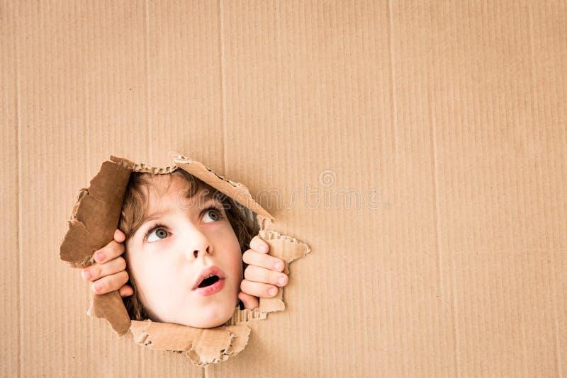 担心的孩子画象  免版税库存图片