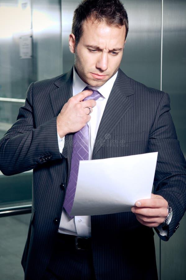 担心的生意人 免版税库存照片