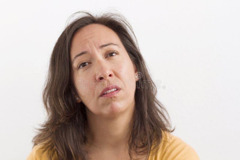 担心的表示面孔 免版税库存图片