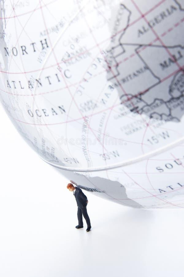 担负您的世界 免版税图库摄影