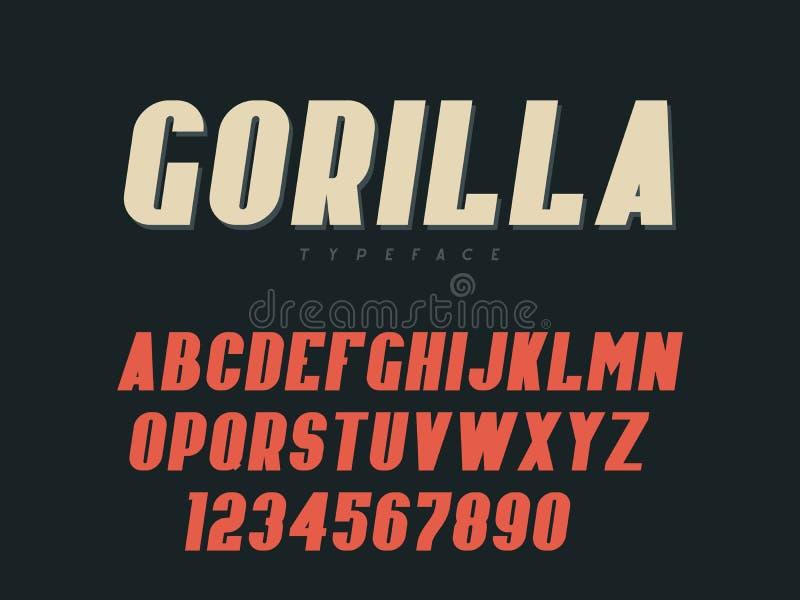 拉丁大写字母表信件和数字 也corel凹道例证向量 库存例证