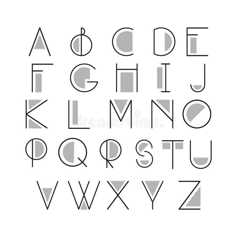 拉丁字母信件 库存例证