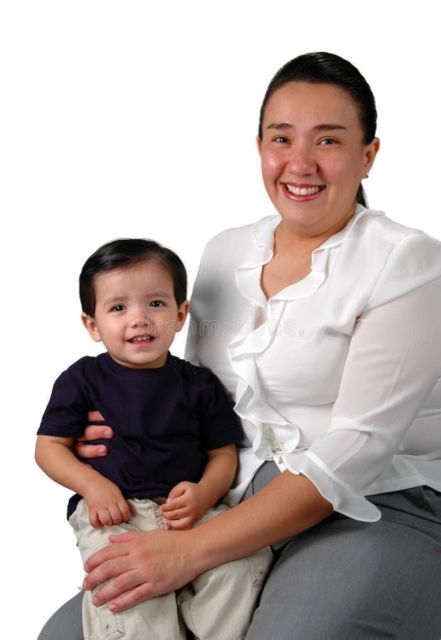 拉丁母亲儿子 免版税库存图片