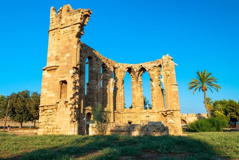 拉丁的圣乔治教会  法马古斯塔,塞浦路斯 图库摄影