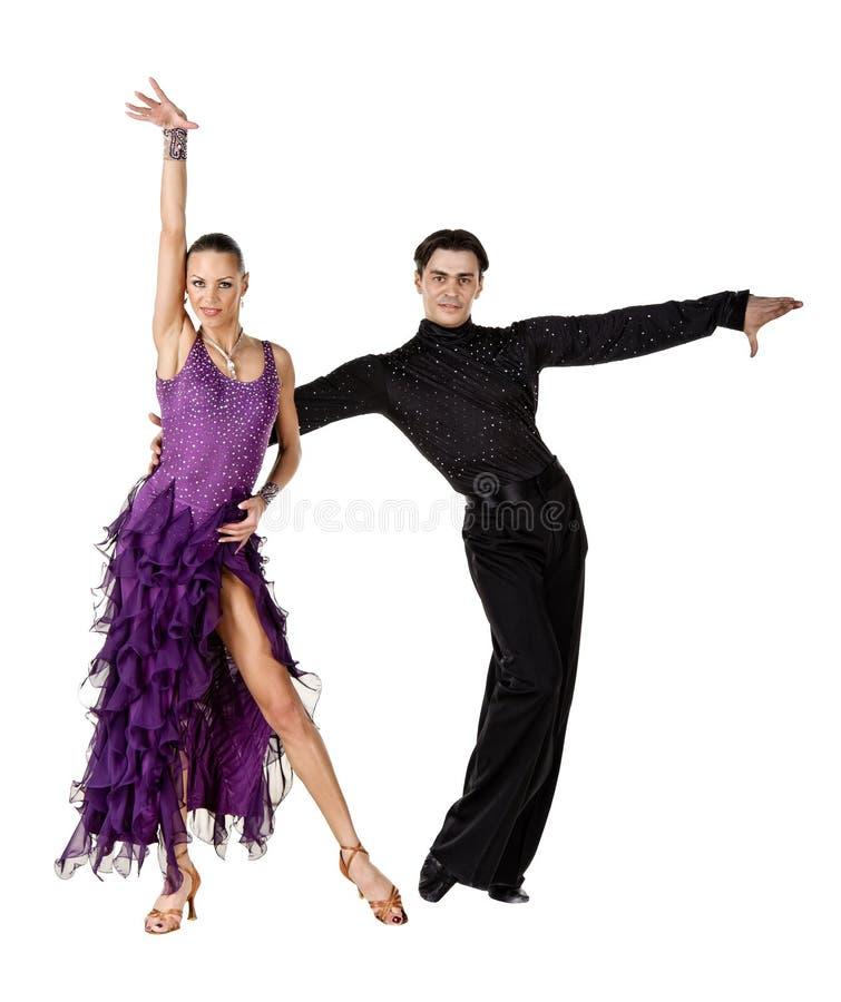 拉丁美州活动的舞蹈演员 库存图片