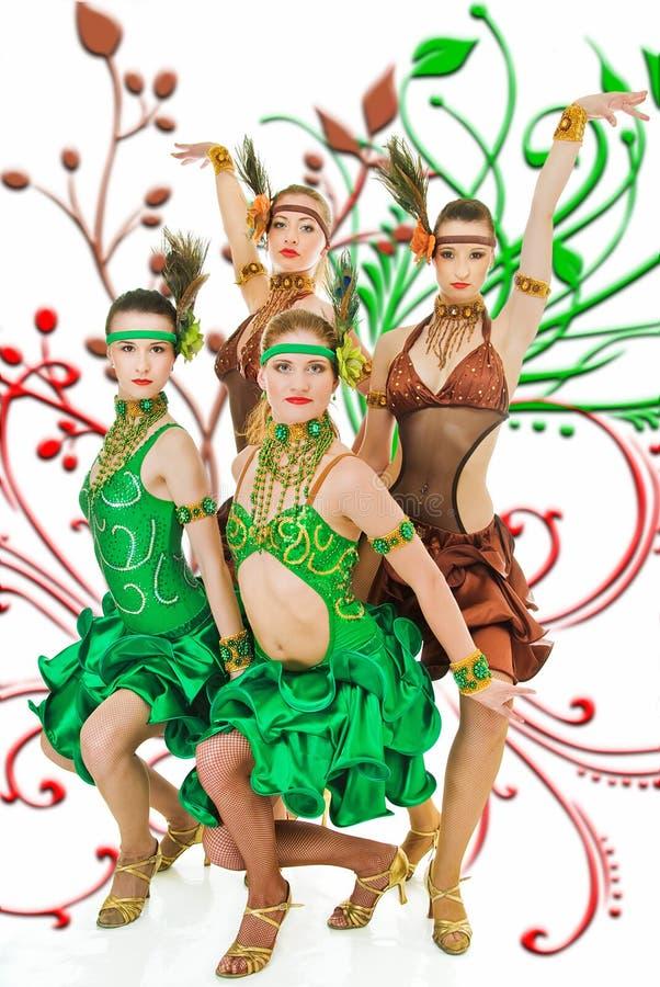 拉丁美州的舞蹈演员 图库摄影
