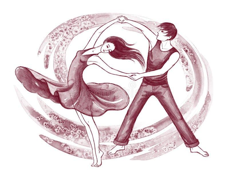 拉丁美州的舞蹈演员 库存例证