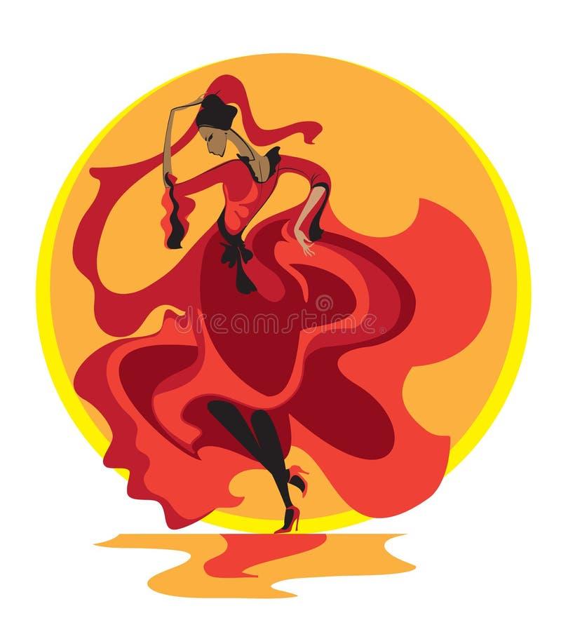 拉丁舞蹈 库存例证