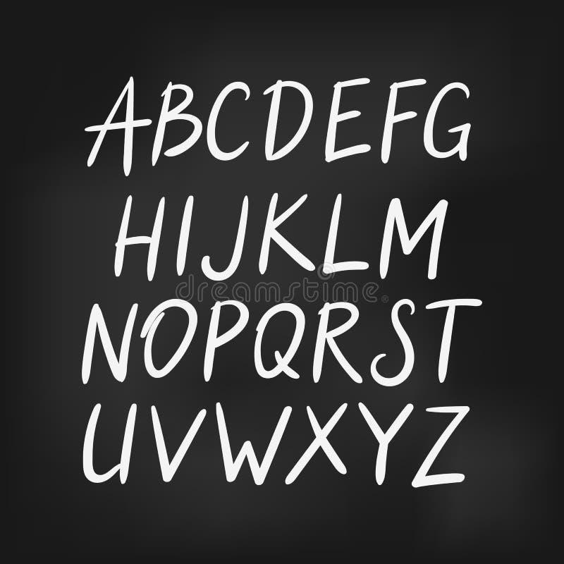 拉丁英语字母表,简单的字体 库存例证