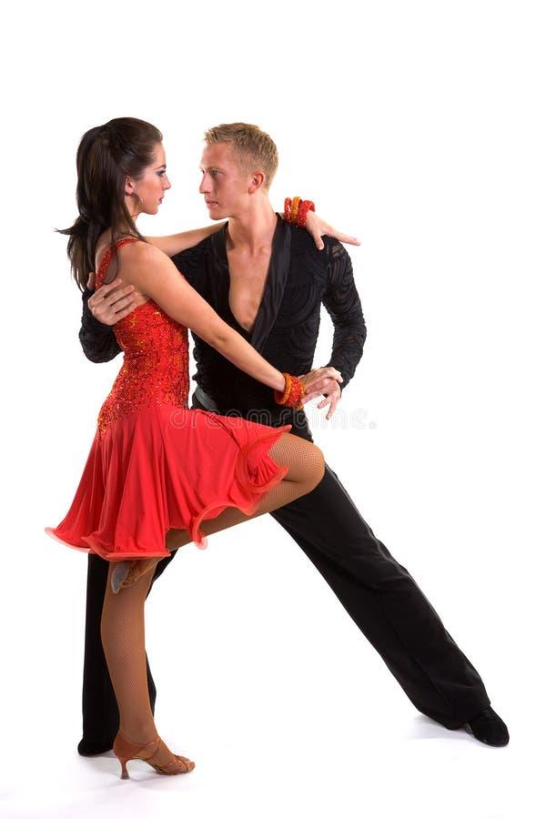 拉丁语04个舞厅的舞蹈演员 库存图片