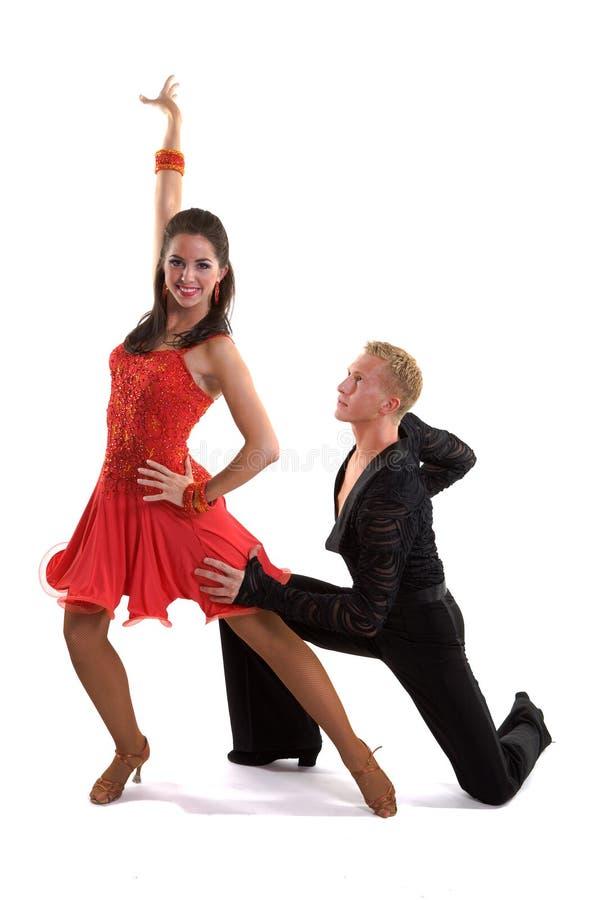 拉丁语07个舞厅的舞蹈演员 免版税库存图片
