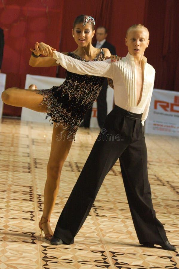 拉丁语3个的舞蹈演员 免版税库存照片