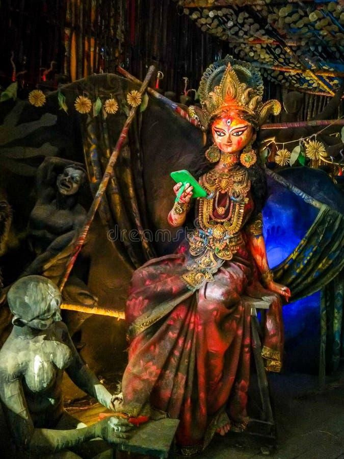 拉克希米或Laxmi,是财富、时运、繁荣和秀丽的印度女神 免版税库存图片