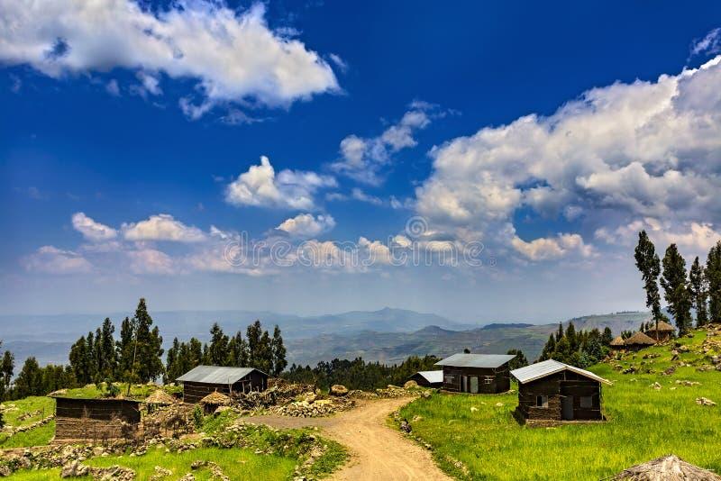 拉利贝拉乡下,埃塞俄比亚 免版税库存图片
