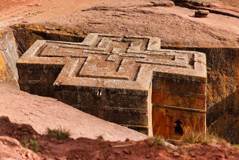 拉利贝拉岩石教堂,拉利贝拉埃塞俄比亚 库存照片