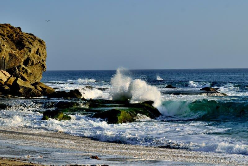拉古纳海滩Aliso小河海滩 免版税库存照片
