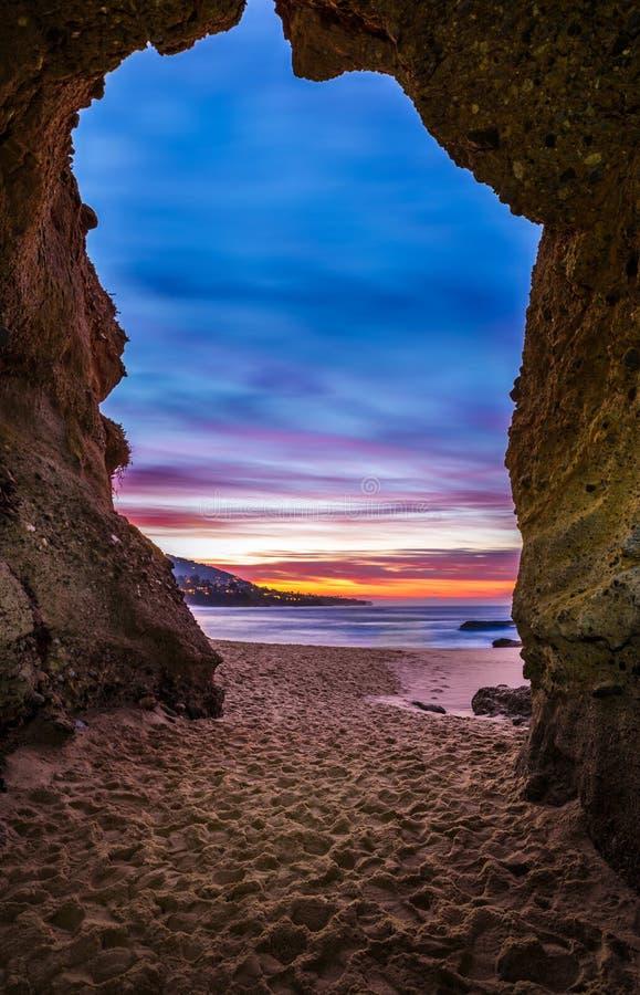 拉古纳海洞入口 库存照片