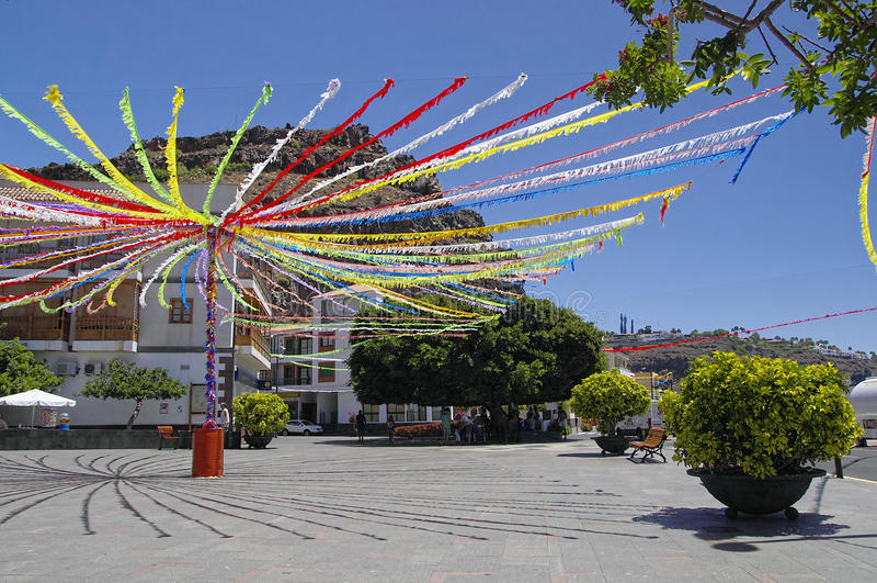 拉古纳DE圣地亚哥,戈梅拉岛,加那利群岛,西班牙 免版税库存照片