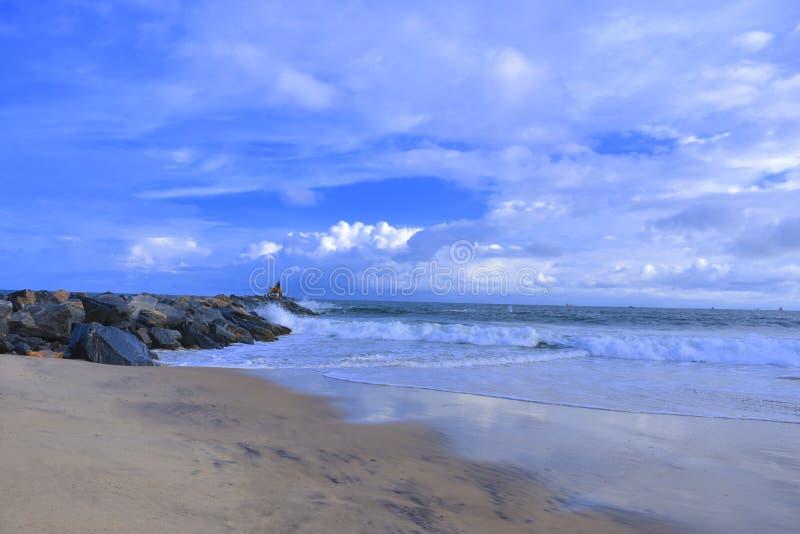拉各斯海滩 库存照片
