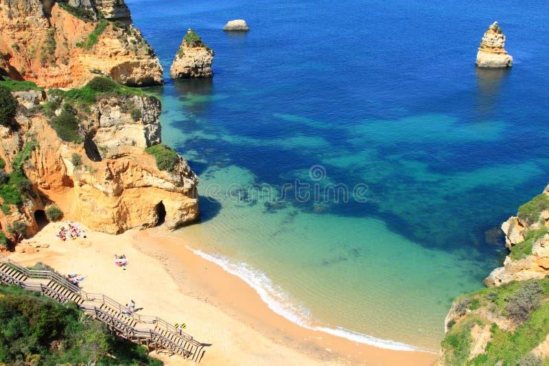 拉各斯,阿尔加威海岸在葡萄牙 免版税库存照片