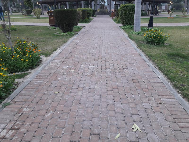 拉合尔庭院镇公园 免版税库存照片