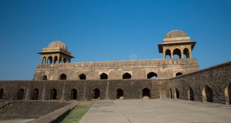 拉妮Roopmati Mandap亭子大阳台印度 免版税库存照片
