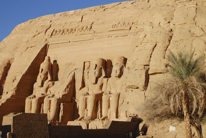 拉姆西斯国王II -阿布・辛拜勒神庙-埃及 库存图片