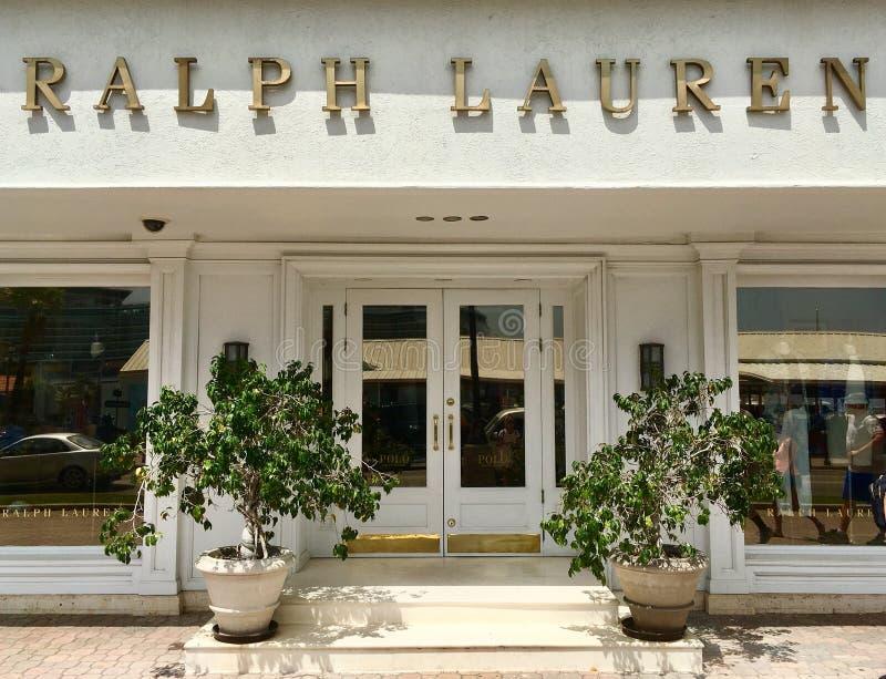 拉尔夫・洛朗品牌商店在阿鲁巴 免版税库存照片