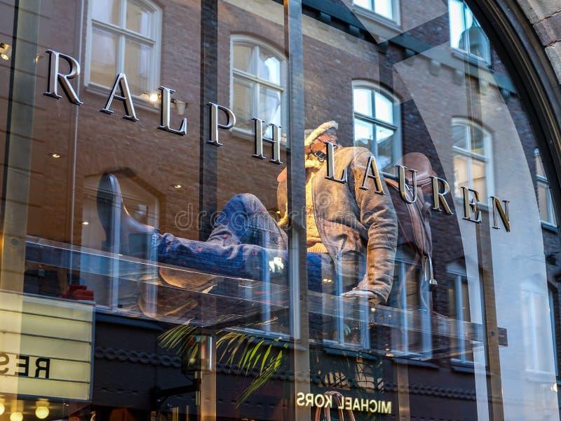 拉尔夫・洛朗商店前面 美国公司生产豪华时尚产品 免版税库存照片