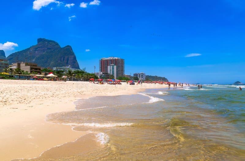 巴拉岛da Tijuca海滩,里约热内卢 免版税库存照片