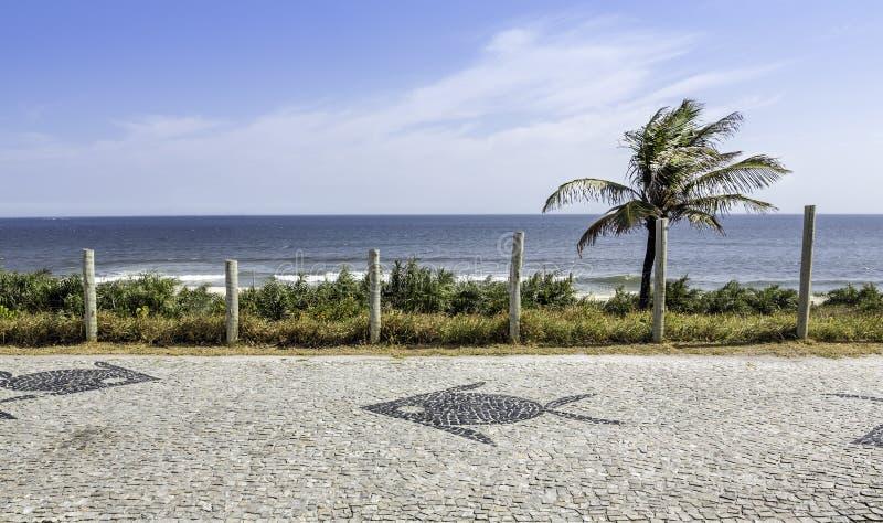 巴拉岛da Tijuca边路马赛克在里约热内卢 库存照片