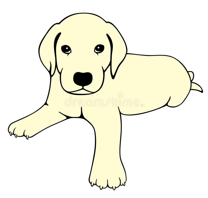 拉布拉多小狗 库存例证