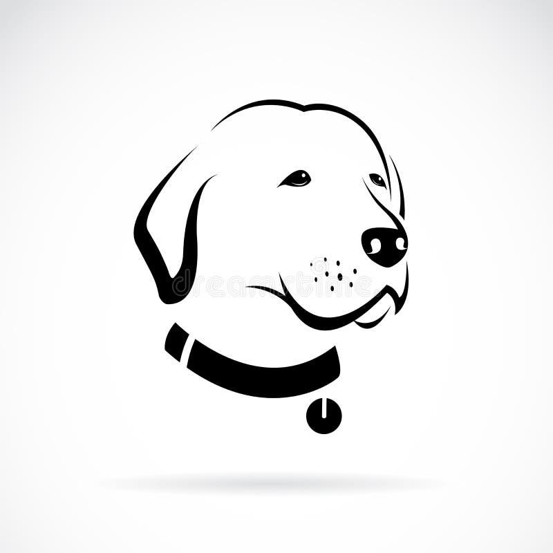 拉布拉多狗头的传染媒介图象 向量例证