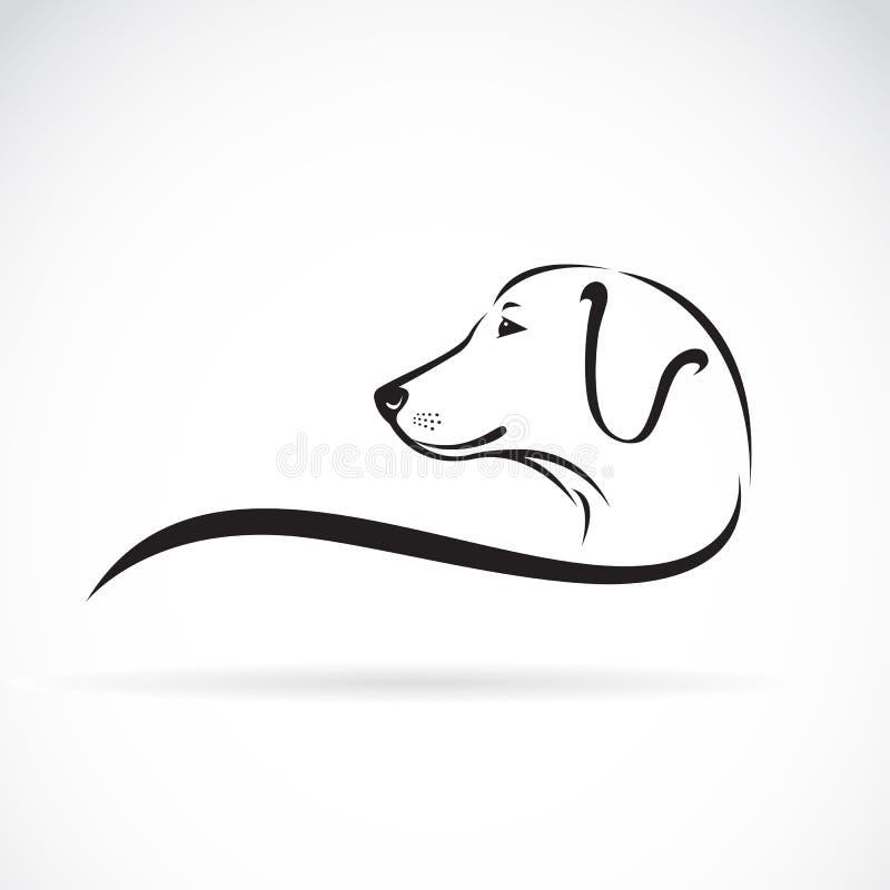 拉布拉多狗头的传染媒介图象 皇族释放例证