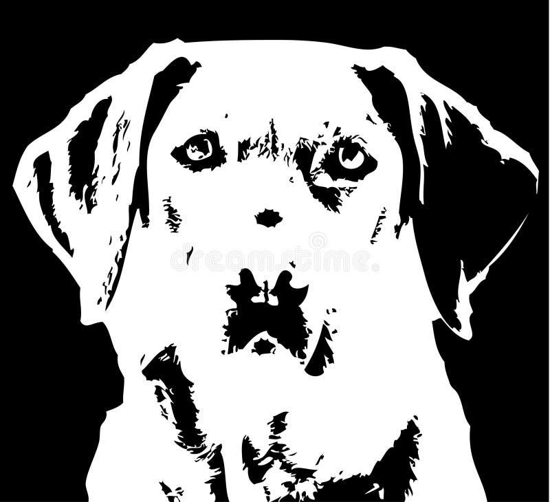 拉布拉多猎犬 库存例证