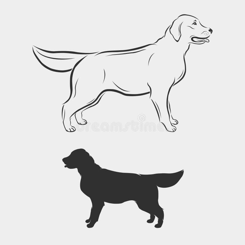 拉布拉多的传染媒介图象,猎犬 免版税图库摄影