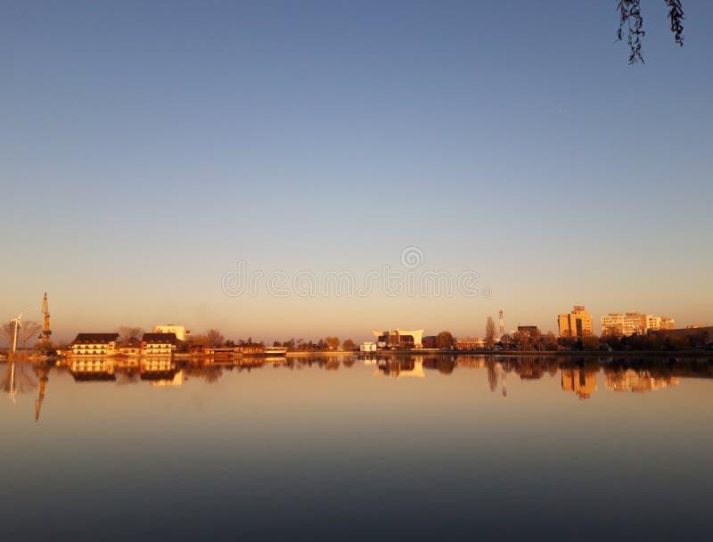 拉库尔·丘佩尔卡 — 罗马尼亚图尔恰 丘佩尔卡湖 库存照片