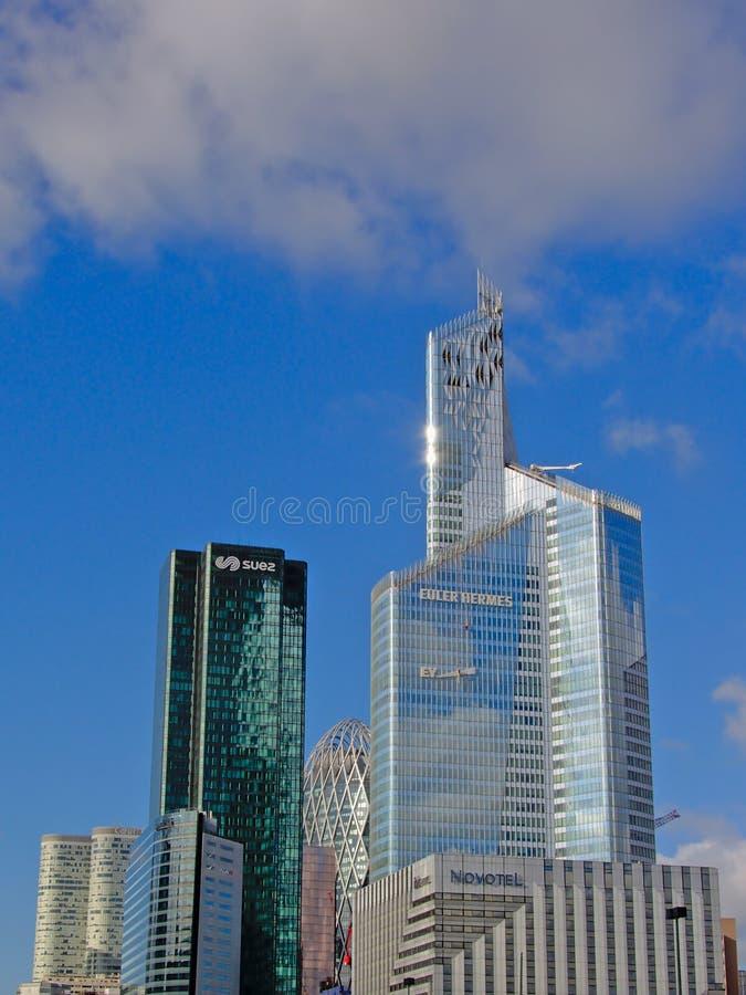 拉德芳斯,巴黎摩天大楼,法语 库存照片