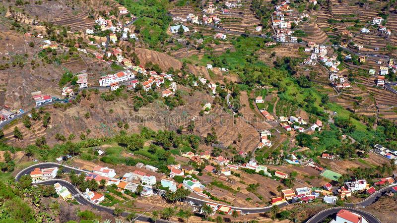 拉戈梅拉,巴列格兰雷,Canarias 免版税图库摄影