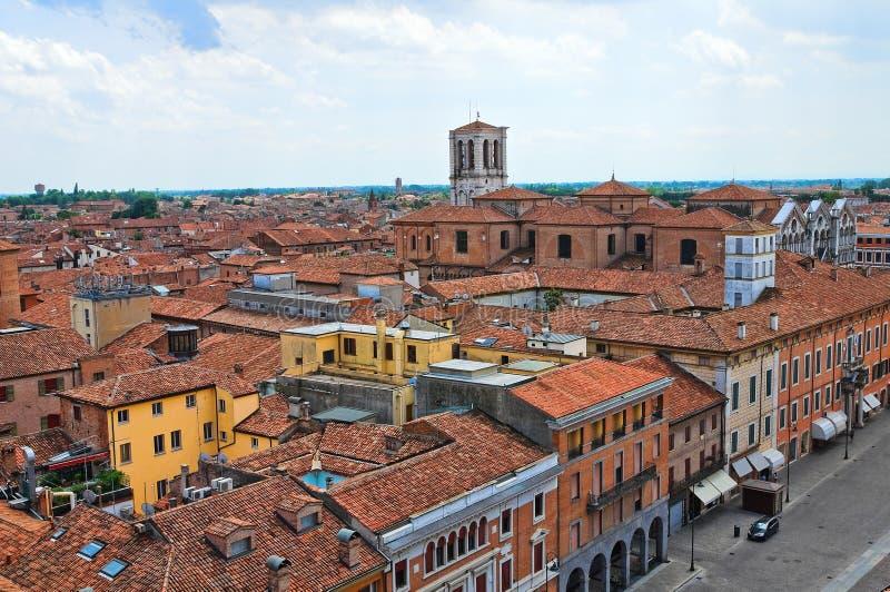费拉拉全景。伊米莉亚罗马甘。意大利。 免版税图库摄影