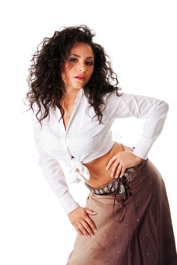 拉提纳性感的妇女年轻人 免版税库存照片