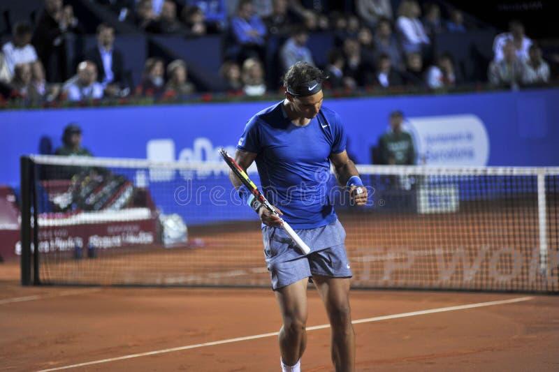 拉斐尔・拿度巴塞罗那打开2014 ATP 500 库存图片