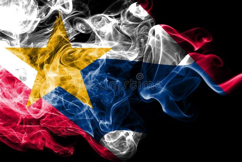 拉斐特市烟旗子,印第安纳状态,美利坚合众国 库存例证